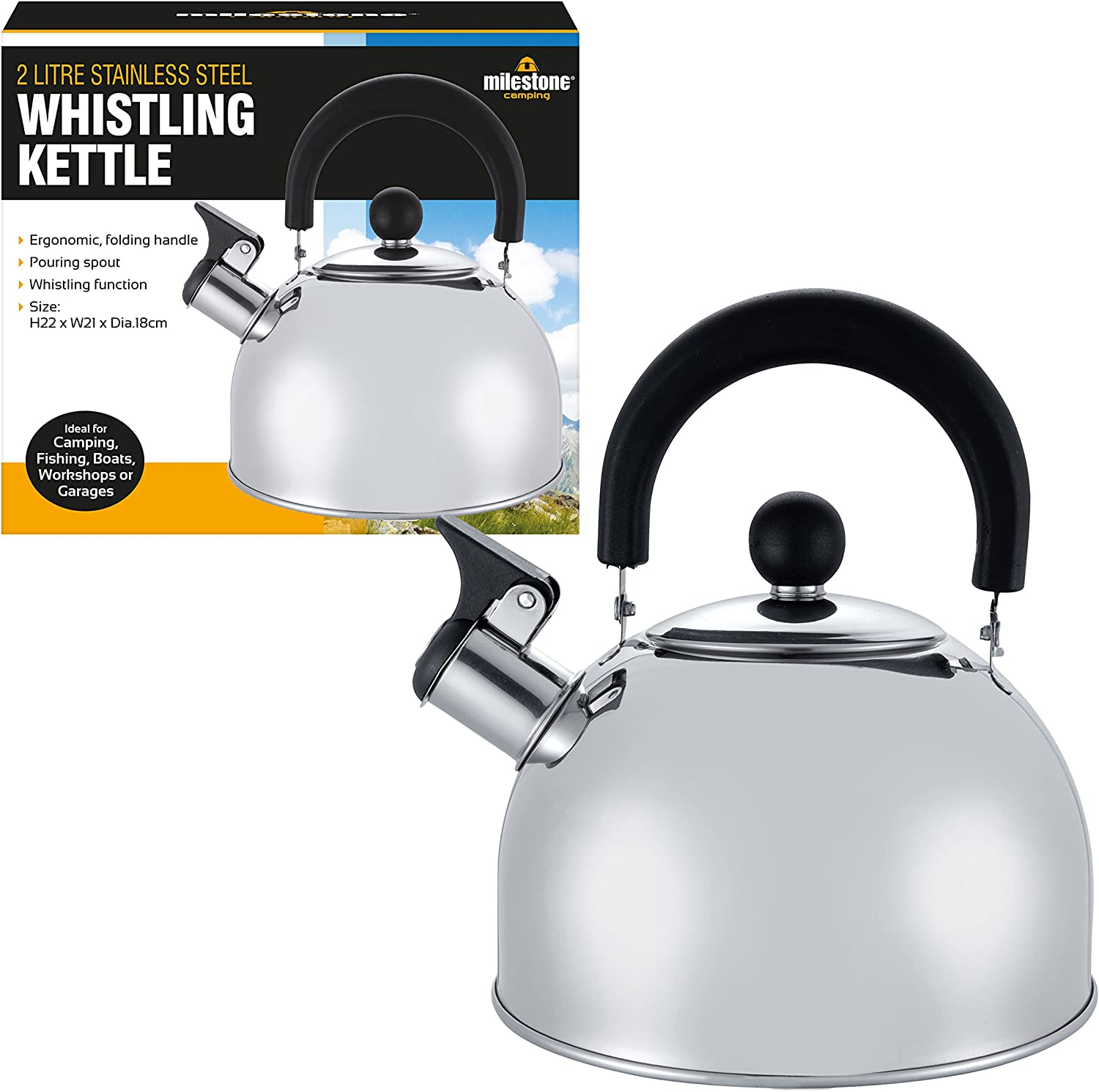 New Vango 2 Litre Camping Kettle Camping Outdoors