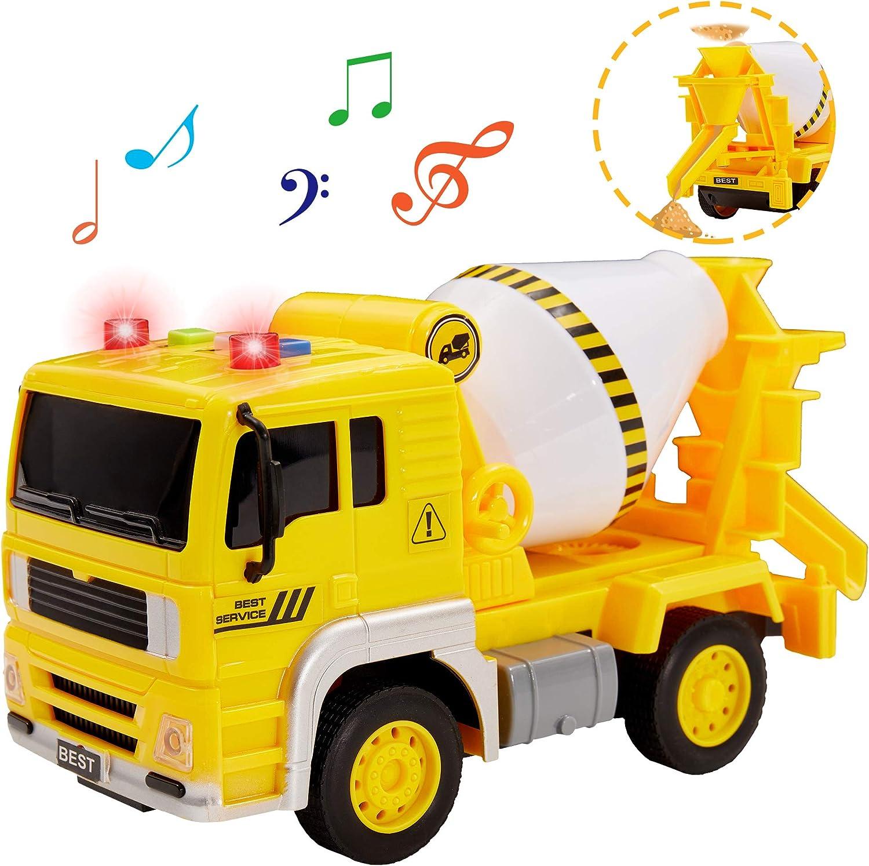 Buyger Juguete de Vehiculos Construccion Coches Camión Coche de Juguete con Luces y Sonido para 3 Años Niños