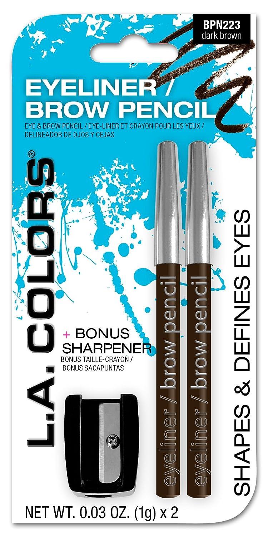 Amazon La Colors 2 Piece Eyelinerbrow Pencil With Sharpener