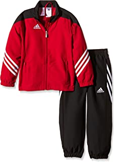 Adidas Sere14 Pre Suit Young Junior Woven Suit Sports Boys Tracksuit Red/Black