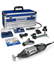 Dremel Platinum Edition 4000 Rotary Tool 175 W, Rotary Multi Tool Kit with 6 Attachments 128 Accessories, Variable Speed 5000-35000 rpm for Cutting, Sanding, Drilling, Cleaning, Routing, Grinding