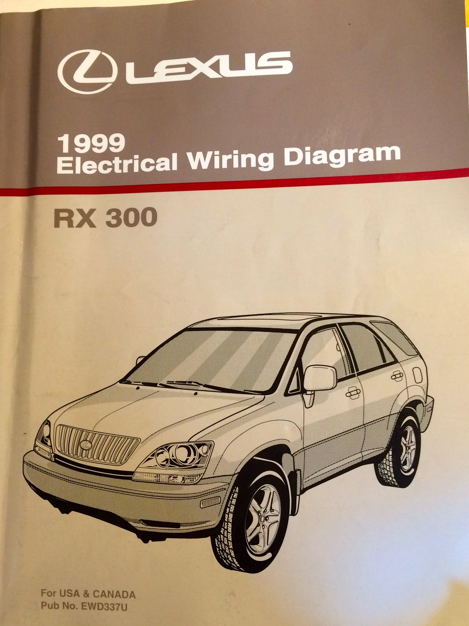 1999 Lexus RX 300 Electrical Wiring Diagram (MCU10, 15 Series): Toyota  Motor Corporation: Amazon.com: Books