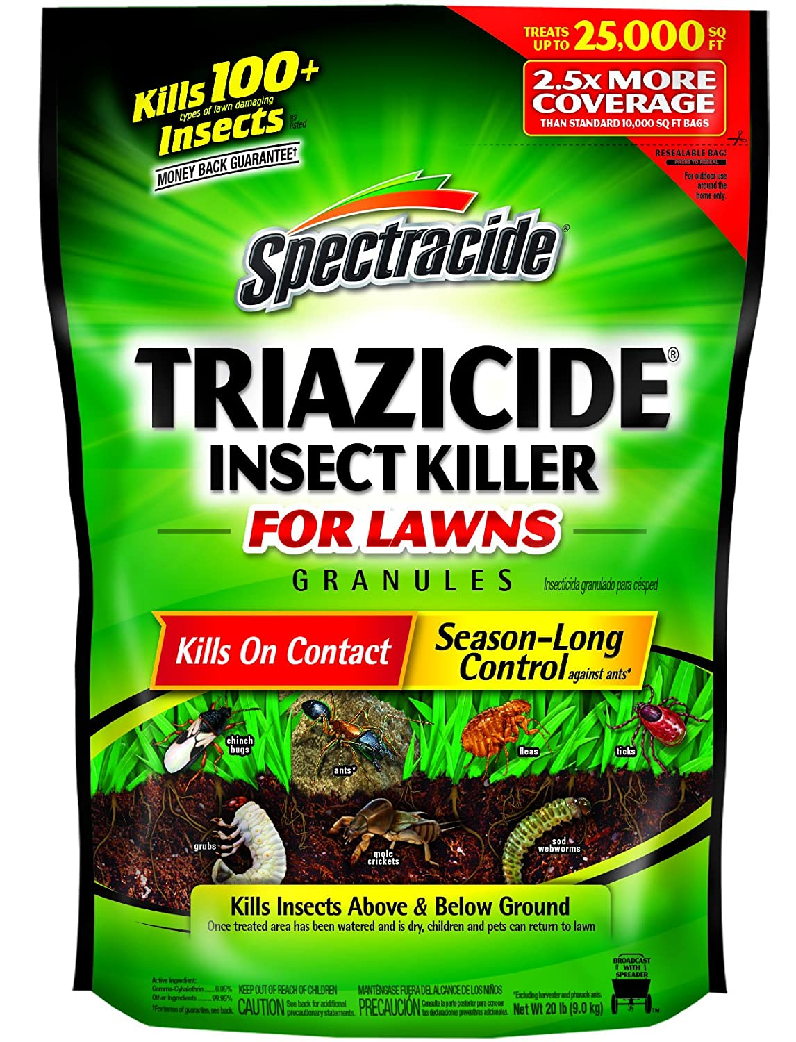 Spectracide Triazicide Insect Killer for Lawns Granules Review