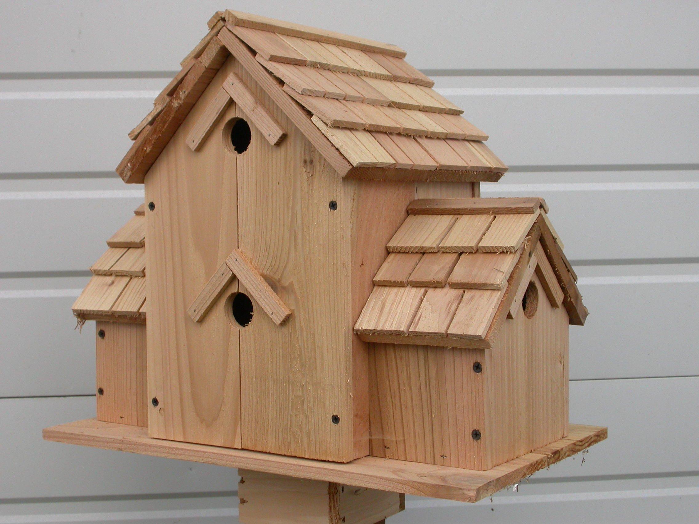 Cedarnest Cedar Birdhouse with 6 Seperate Compartments