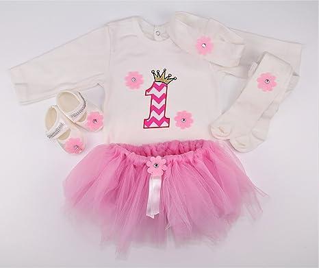 Original- Entdecken beste Sammlung Geburtstags Kleidung Geburtstagskleid Baby Mädchen 1 jahr ...