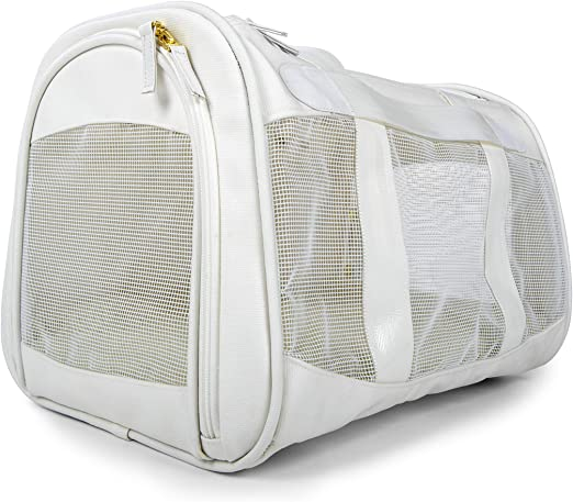 Sherpa, Travel Element Pet Carrier, Easily Wipes Clean, Airline Approved, White, Medium