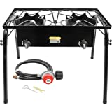 CONCORD Double Burner Outdoor Stand Stove Cooker w/ Regulator Brewing Supply by Concord Cookware