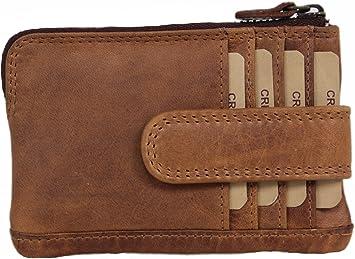 Porte monnaie CUIR Veritable souple 4 compartiments  porte clef   Hommes femmes