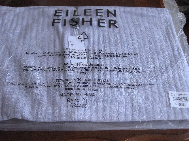 EILEEN FISHER Fine Tencel Alpaca Rib INSKY India Sky Wrap Poncho OS ...