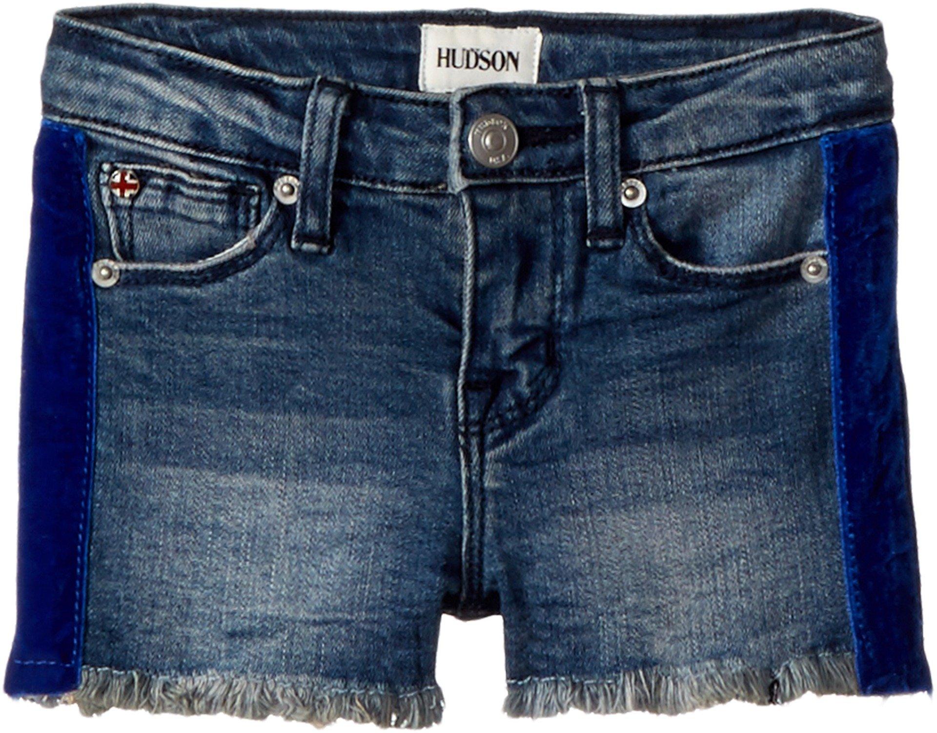 Hudson Kids Baby Girl's Gabby Shorts (Toddler/Little Kids) Washed Blue 6X