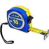 S&R Metro a Nastro 10,0 m x 25mm, Flessometro Professionale Antiurto Morbido, Gommato - serie MUSTANG