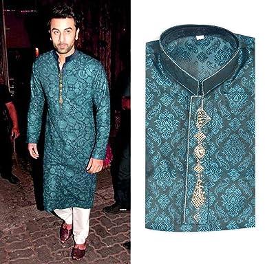 Fashion Men Pakistan Indian Kurta Shalwar Fancy Eid Wedding Party At