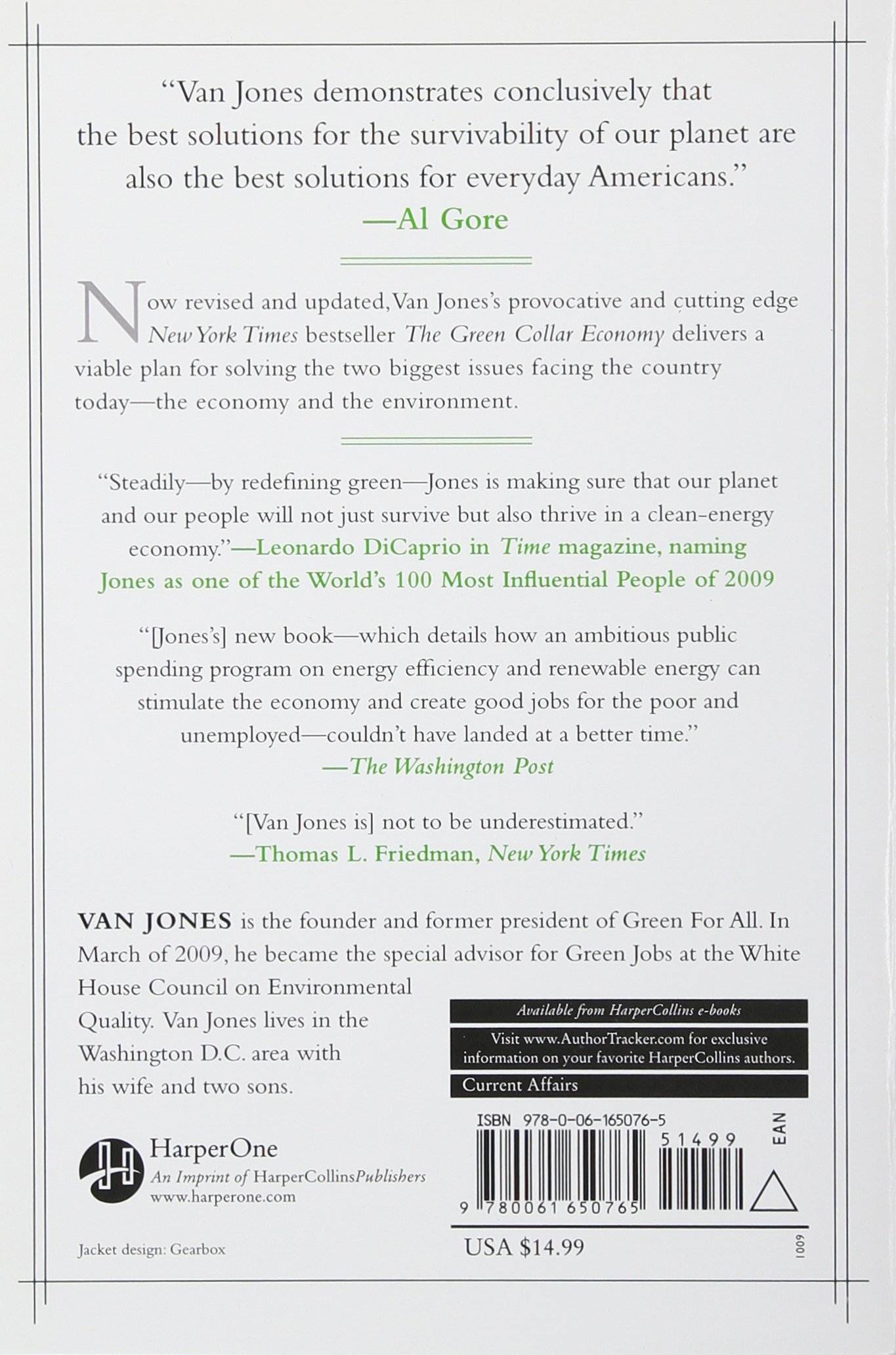 the green collar economy how one solution can fix our two biggest the green collar economy how one solution can fix our two biggest problems van jones 9780061650765 com books