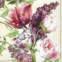 Ideal Home Range - Servilletas de papel (20 unidades), Elizabethan Garden Cream, 1