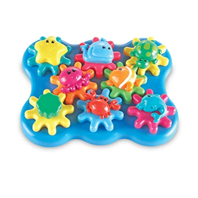 Learning Resources Ocean Wonders Build & Spin, Gears Toy & Building Set, 17 Pieces, Ages 2+: Toys & Games