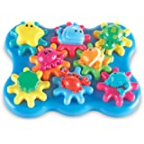 Learning Resources LER9220 Ocean Wonders Build & Spin Play Set (17 Piece),11-1/2 L x 9 H in,Multicolor