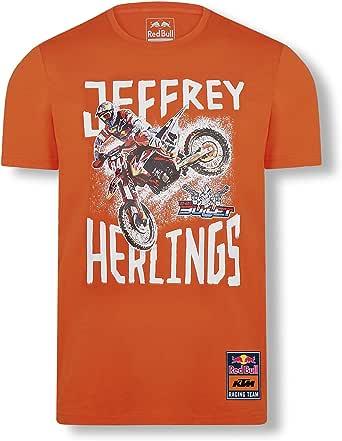 Red Bull KTM Jeffrey Herlings 84 T-Camisa, Naranja Hombres Camisa Manga Larga, KTM Factory Racing Original Ropa & Accesorios