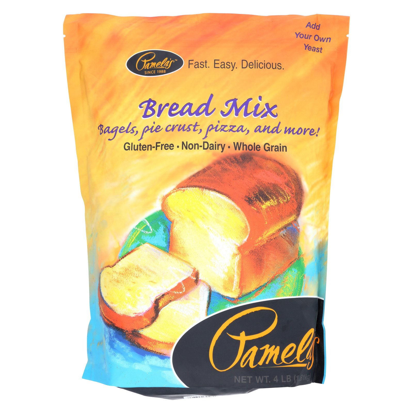 Pamela's Products Bread Mix - Case of 3 - 4 lb.