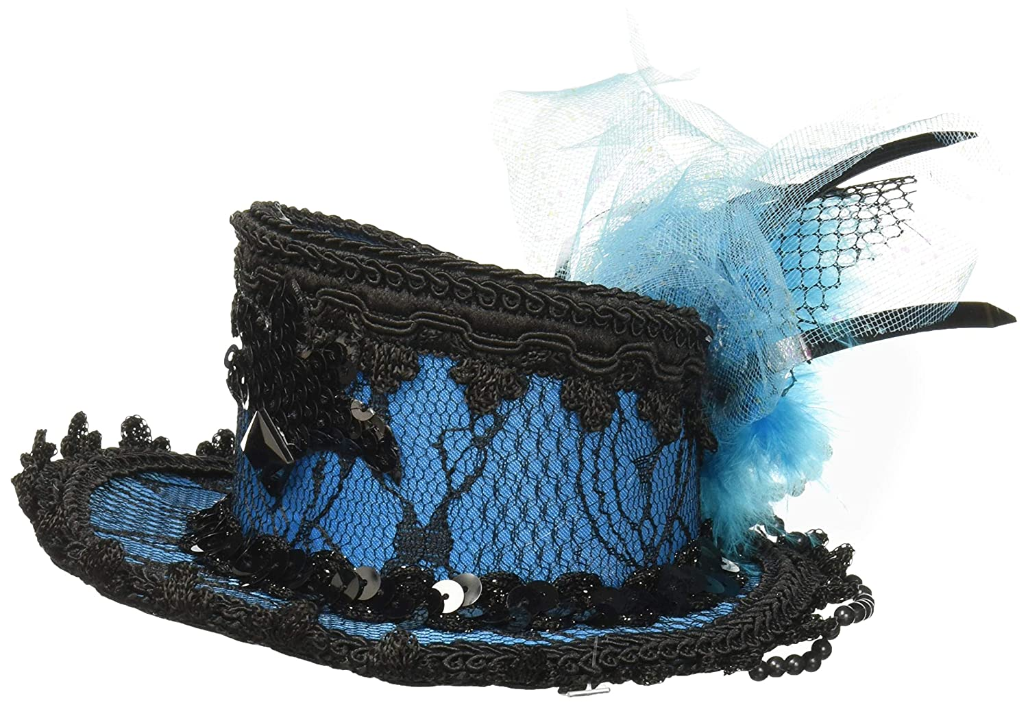 Costume Black Lace Mini Hat