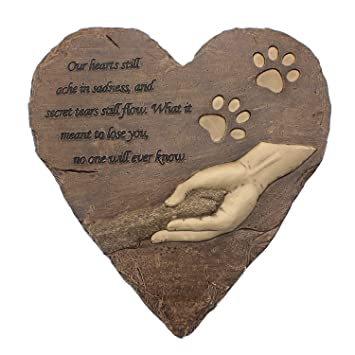 izery pet memorial stones engraved memorial small heart garden