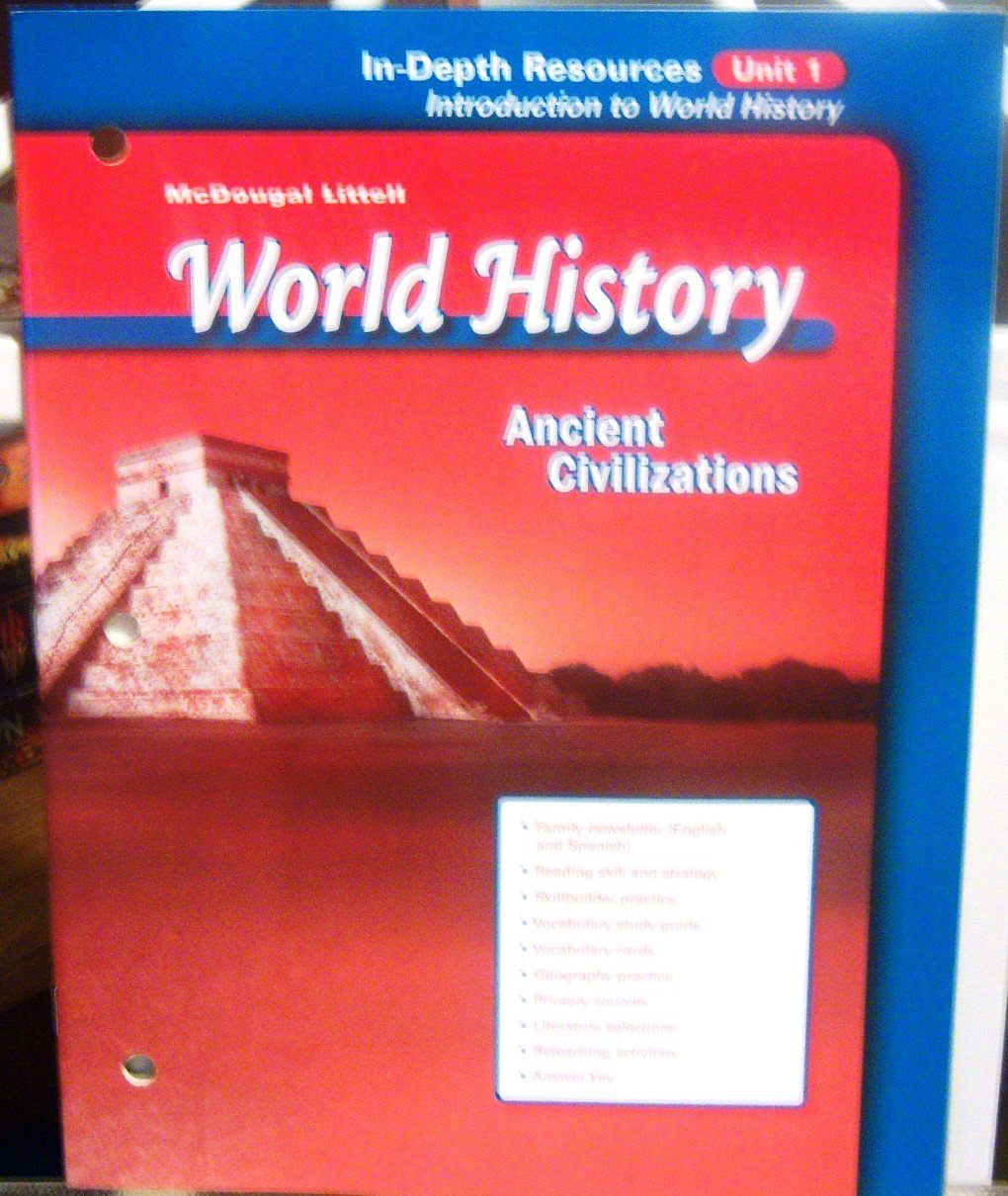 Read Online World History Ancient Civilizations In-Depth Resources Unit 1 Introduction to World History pdf epub