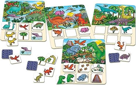 Orchard Toys - Juego de lotería de Dinosaurios: Amazon.es: Juguetes y juegos