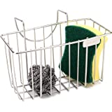 Sponge Holder, Sink Caddy Kitchen, Soap Dishwashing Liquid Drainer Brush Rack, Dish Draining Sink Basket - Stainless Steel