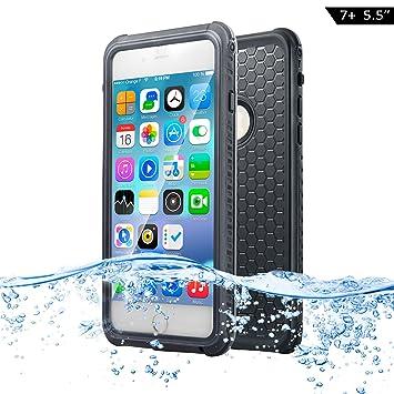 Dailylux Funda Impermeable para iPhone 7 Plus, Normal o Bajo El Agua Doble Uso con Protector Pantalla,Resistente al Polvo,Funda Protectora Cubierta ...