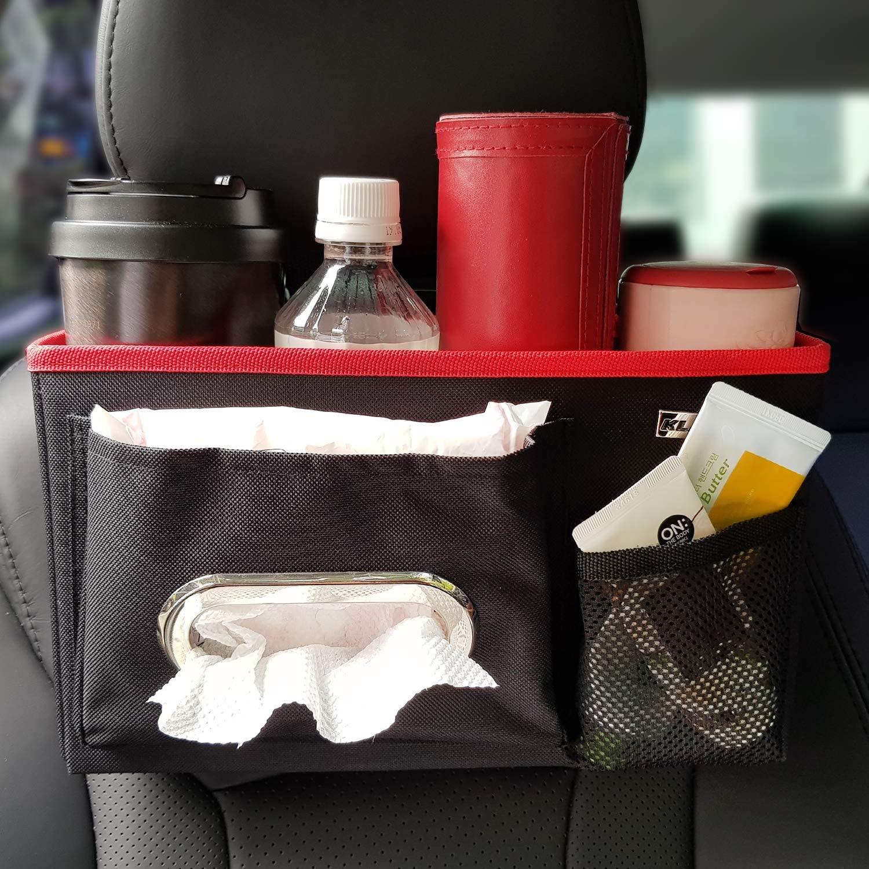 dolbiway Car Vehicle Seat Headrest Organizer Back Seat Organizer Phone Holder Drink Holder Passenger Accessories Personal Travel for Kids