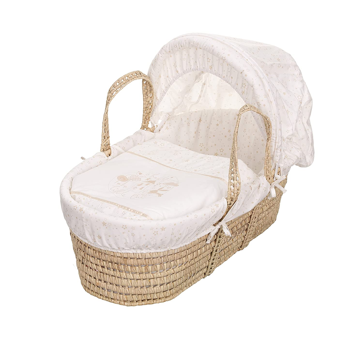 Obaby Hello Little One Moses Basket - Cream 32OB5207