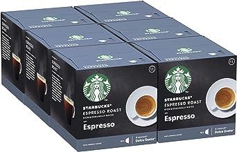 Oferta amazon: Starbucks Espresso Roast De Nescafe Dolce Gusto Cápsulas De Café De Tostado Intenso 6 X Caja De 12Unidades