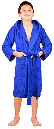 5067caf690 SKYLINEWEARS Terry Cloth 100 % Cotton Kid s Boys    Girls Unsex Fit Hooded  Bathrobe