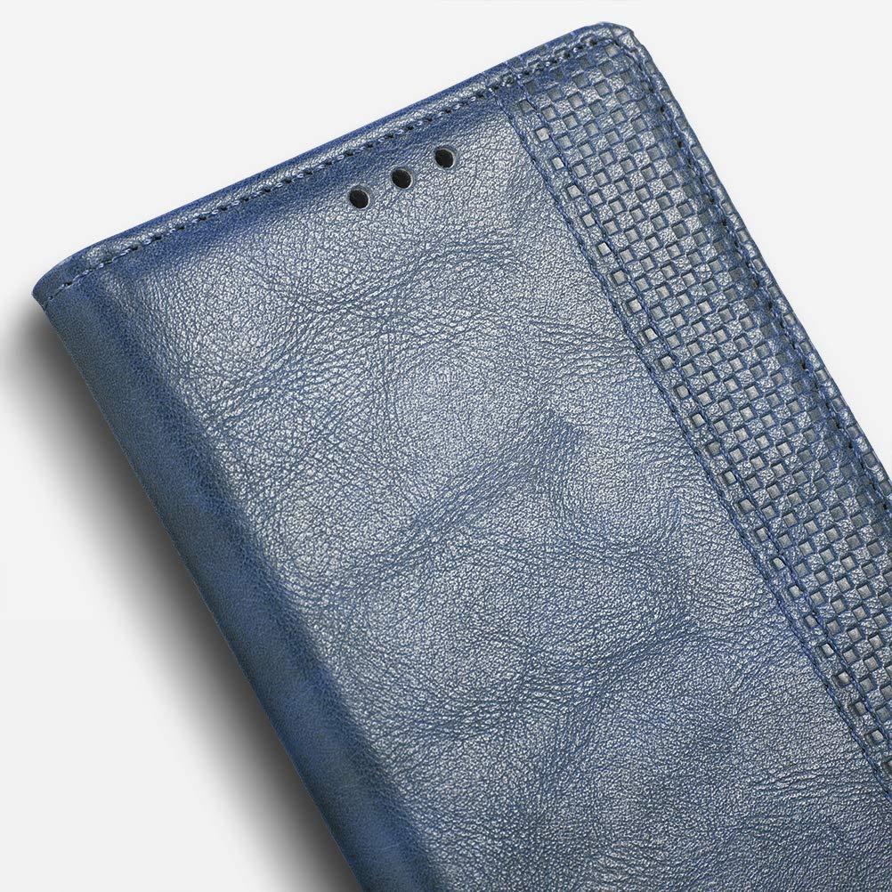 Cuero PU Retro y Elegante Cubierta Suave con Cierre Magn/ético Incorporado Cuaderno iHOY Funda para LG G7 ThinQ,