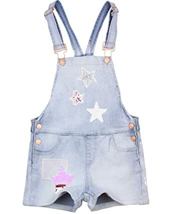 53136012c77 Amazon.com  Desigual Girls  Denim Suspenders Shorts Vidal