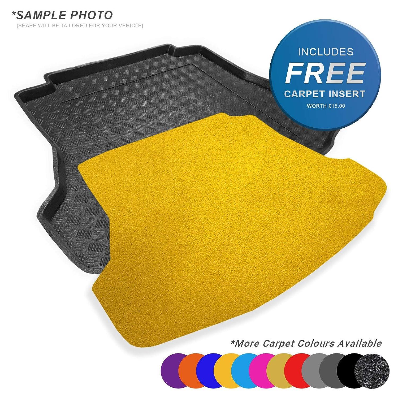 CARMATS4U.COM Fully Tailored PVC Boot Liner//Tray FREE Sky Blue Carpet Insert - 100952 Hatchback models