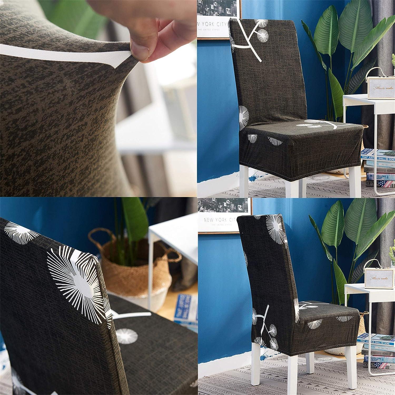 1 Pieza,Cachorro Negro Elasticas Fundas de Sillas para Comedor Salon Oficina Bouquet de la Boda Morbuy Verano Respaldo Alto Extra/íbles y Lavables Protectoras para Sillas