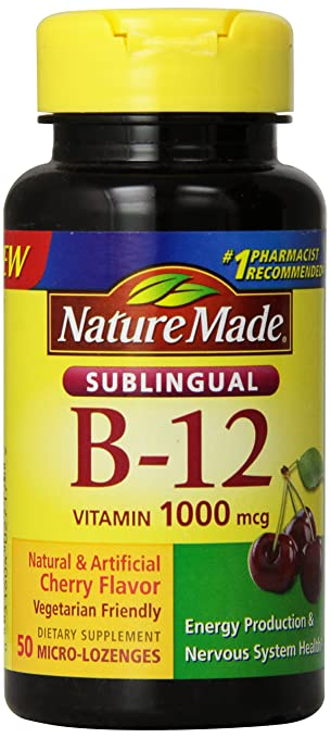 Nature Made Vitamin B-12 1000 MCG Sublingual Supplement, 50 Count