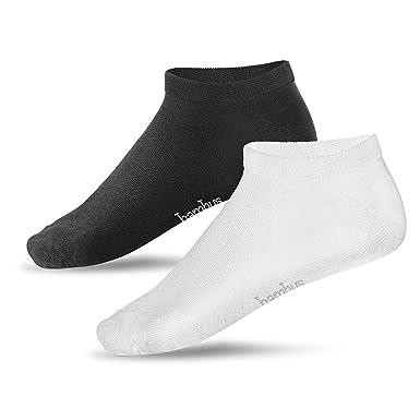 d5d2052d757b6e bestsale4you 6/12 Paar Best Basics Bambus Sneaker Socken Kurzsocken  Füßlinge Sportsocken Schwarz/Weiß - Herren & Damen Socken ...