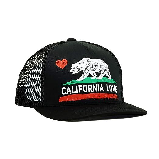 7d472c83f California Love Printed Premium Cotton Mesh Trucker Hat Adjustable Bear  Heart Baseball Cap