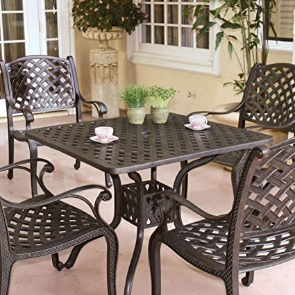Amazon Com Darlee Nassau Cast Aluminum Patio Dining Set Seats 4