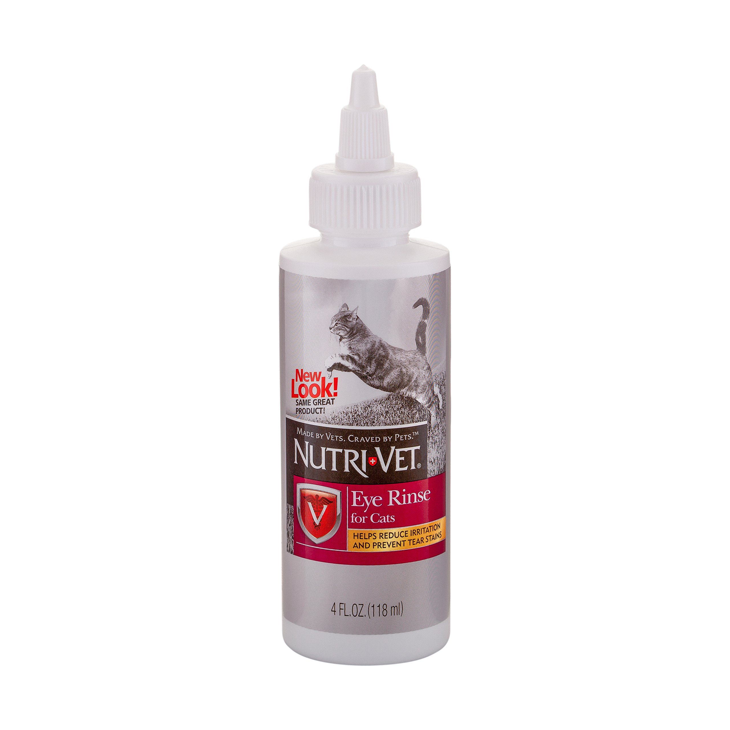 Nutri-Vet Eye Rinse for Cats | Gentle Formula Removes Debris | Helps Reduce Irritation and Prevent Tear Stains | 4oz