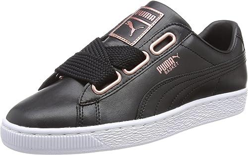 PUMA Basket Heart Leather, Scarpe da Ginnastica Basse Donna