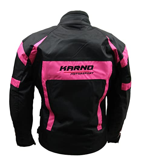 KT021 chaqueta moto mujer Lady Spirit Pink Rosa Fluo: Amazon ...