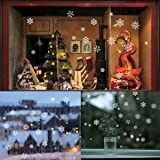 85 Snowflake Window Clings  Christmas Window Decorations 34 Different Snowflakes by NICEXMAS