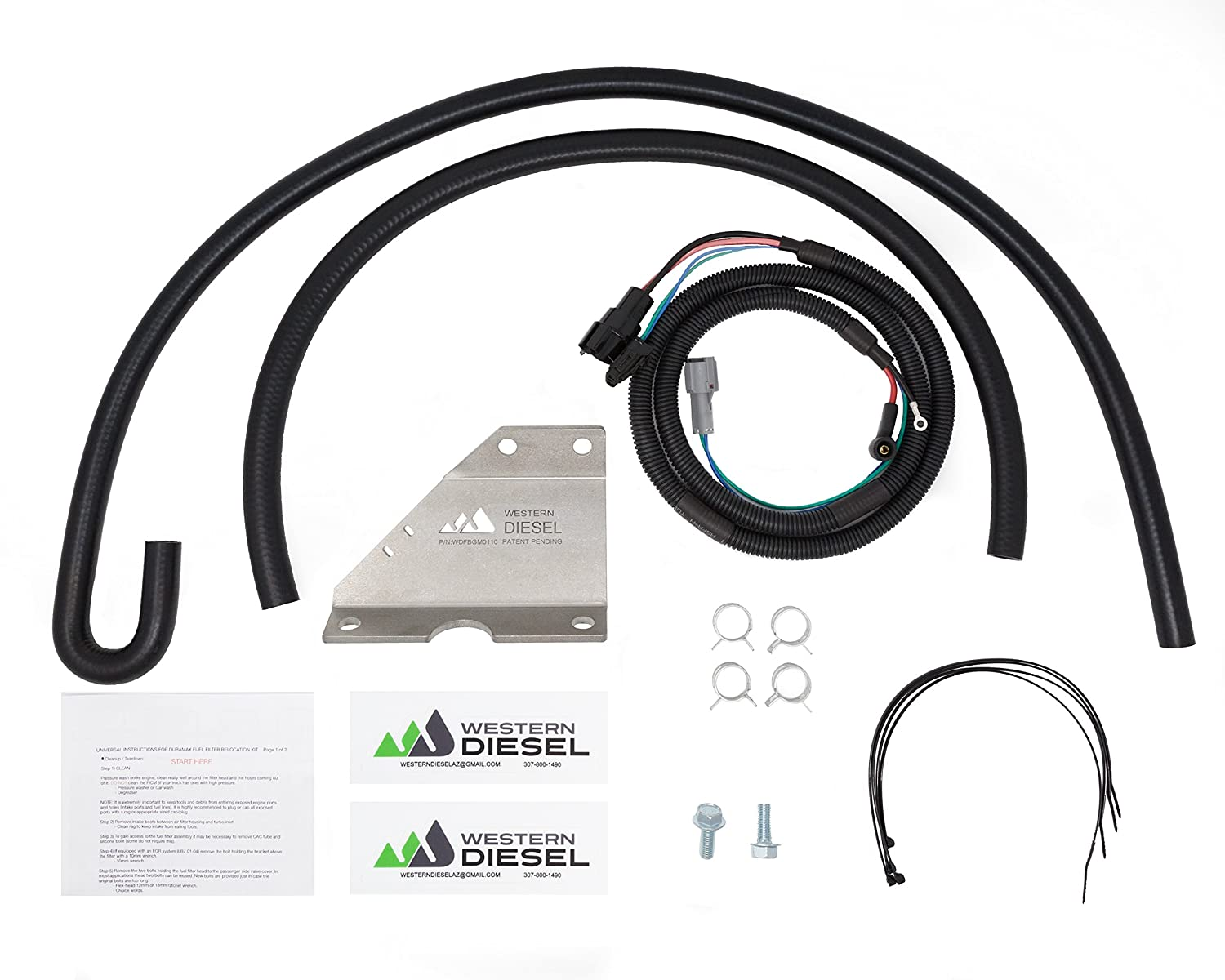 Amazon.com: Duramax Fuel Filter Relocation Kit (2011 Without Fuel Heater):  Automotive