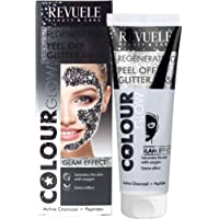 Revuele Peel Off Glitter Mask - Black, 80ml, 100 grams