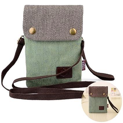 9a587ba05787 Katloo Girls Women Mini Cute Crossbody Bag Wristlet Cellphone Wallet Purse  Loose Change Pouch for iPhone