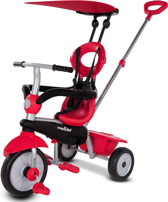 smarTrike Zoom - Triciclo para niños de 1, 2 y 3 años, 4 en 1, multietapa, color rojo
