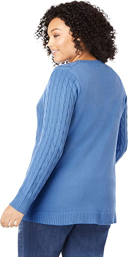 Essentials Plus Size Lightweight Vee Cardigan Sweater Donna