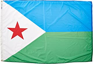 product image for Annin Flagmakers Model 192216 Djibouti Flag Nylon SolarGuard NYL-Glo, 4x6 ft, 100% Made in USA to Official United Nations Design Specifications